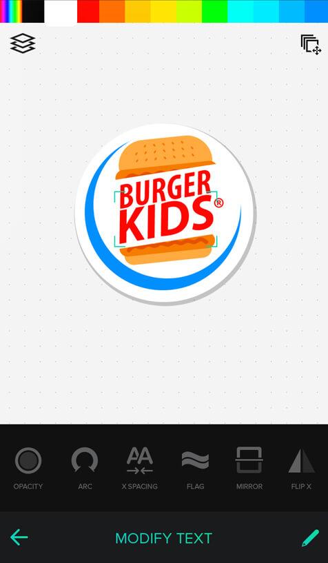 Online design logo app